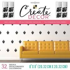 Shop Dcwv Create Decor Removable Wall Decals 8 X8 Black Damask 8 Sheets Overstock 18898636