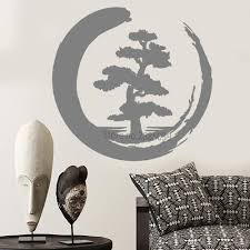 Meditation Zen Style Design Large Tree Vinyl Wall Decal Tree Of Life Circle Buddhism Yoga Studio Wall Stickers Home Decor Peelable Wall Decals Peelable Wall Stickers From Onlinegame 12 66 Dhgate Com