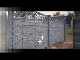 Decorative Concrete Fence Panels Www Eurofence Uk Com Youtube