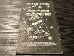 Marsupilami Sega Genesis Manual Only Instruction Booklet black and white  version