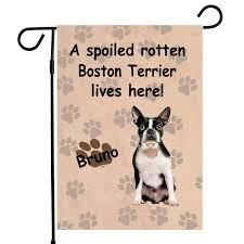 boston terrier dog garden flag house