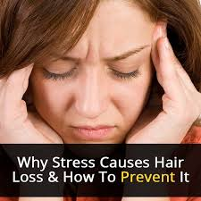 why stress causes hair loss and how to