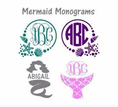 Mermaid 3 Decal Monogram Or Name For Tumbler Wine Glass Cup Size Sticker For Sale Online