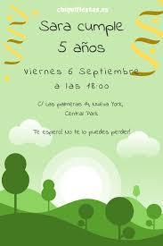 Invitacion Cumpleanos Parque Aire Libre Edita Y Persona