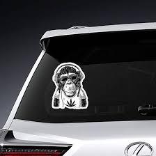 Rasta Monkey In Headphones Sticker