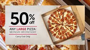 pizza hut canada offers 50 off large