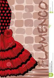 Tarjeta Espanola Del Dia De Fiesta Del Flamenco Ilustracion Del