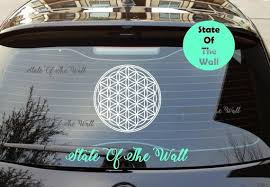 Flower Of Life Car Decal Sticker Art Decor Buddha Sacred Etsy