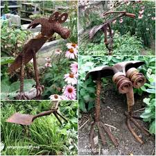 29 rusty garden junk art ideas