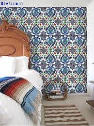 Batumi Turkish Tile Wall Decals 44 Pcs By Bleucoin On Etsy Tile Decals Turkish Tile Wall Tiles