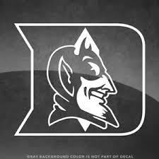 Duke Blue Devils Logo Vinyl Decal Sticker 4 Size And Up More Colors Ebay