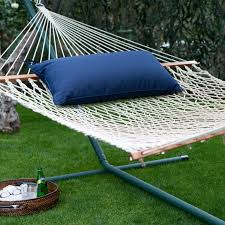 Island Bay 13 ft. XL Rope Double Hammock with Metal Stand & Pillow -  Walmart.com - Walmart.com