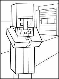 Kleurplaat Minecraft 3