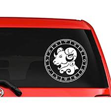 Gemini Twins Zodiac Sign Car Truck Suv Laptop Window Decal Sticker 8 White