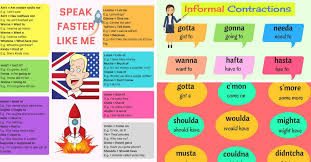 common informal contractions in english