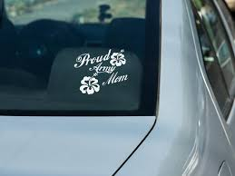 Personalized Proud Army Mom Inspired Silhouette Car Decal Etsy