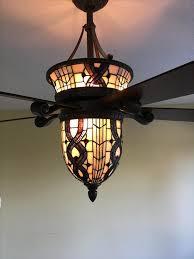 hampton bay tiffany stained glass light