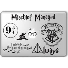 Harry Potter Decal Set Apple Macbook Laptop Vinyl Sticker Decal Liked On Polyvore