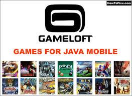 gameloft games for java keypad
