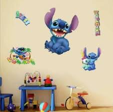 Large Lilo Stitch Removable Wall Stickers Decal Kids Nursing Room Home Decor Ebay