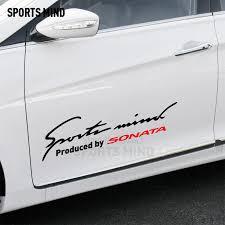 Customizable Vinyl Waterproof Car Decal Sticker Car Styling Exterior Accessories For Hyundai Sonata Accessories Sports Mind Accessories For Carsports Mind Decal Aliexpress