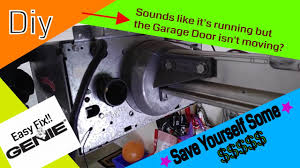 genie garage door opener not moving