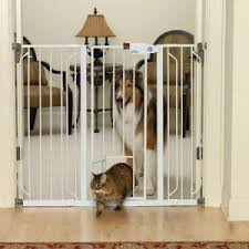 Top Paw Extra Tall Pet Gate With Small Pet Door Tension Mounted Gates Gates Petsmart Pet Gate Tall Pet Gate Cat Gate