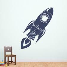 Rocket Wall Decal Rocket Ship Decor Boy Bedroom Decal Etsy