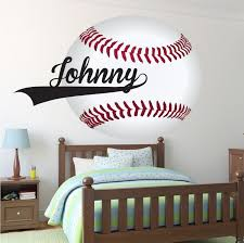 Large Baseball Wallpaper Decal Boys Baseball Wall Sticker Baseball Monogram Baseball Wall Graphic Baseball Wall Art Kids Room Wall Decals Baseball Wall Decal Baseball Wall