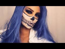 half skull makeup tutorial beauty