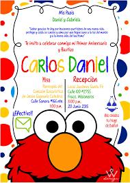 Invitacion Carlos Daniel Invitaciones Elmo Fiesta De Elmo