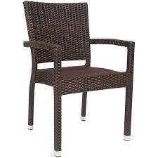 aluminum rattan patio arm chair in
