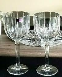 marquis omega cut crystal wine glasses