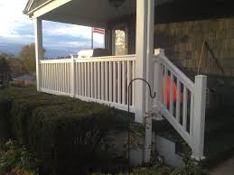 Pro Fence Railing Handrails Front Porch White Vinyl Railing Installation In New Brighton Pa