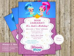 Shimmer And Shine Genie Birthday Invitation Invitaciones De