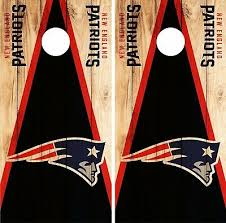 New England Patriots Cornhole Skin Wrap Nfl Wood Decal Vinyl Board Logo Dr625 Cornhole Bag Toss