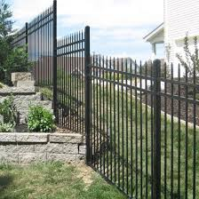 China Powder Coated Ornamental Fence Steel Stair Railing Step Fencing Panel China Steel Fencing Stair Step Fence