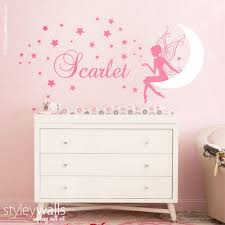 Fairy Wall Decal Baby Girl Room Nursery Sticker Personalized Moon Star Styleywalls On Artfire