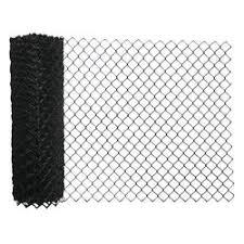 50 Black Vinyl Coated 9 Gauge Chain Link Fence Fabric At Menards