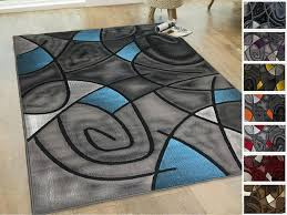 rug 8x10 area rug blue grey black