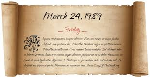 Image result for March 24, 1989
