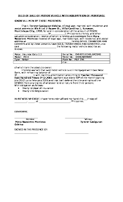 deed of of motor vehicle with