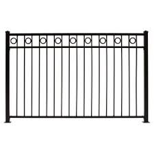 Gilpin Deco 4 Ft H X 6 Ft W Black Steel Flat Top Decorative Fence Panel Lowes Com Decorative Fence Panels Fence Panels Metal Fence Panels