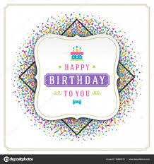 Happy Birthday Greeting Card Design Vector Template Stock