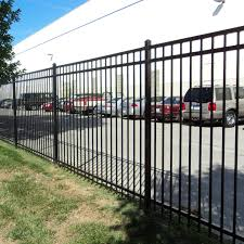 6 5ft W X 5ft H Xcel Black Steel Anti Rust Fence Panel Swimming Pool On Concrete Or Soil Outdoor For Residential Yard Easy Installation Garden 3 Rail Sharp End Pickets One Post Included Decorative