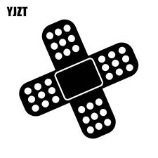 Yjzt 15 15cm Fun Jdm Band Aid Covering Scratch Decals Car Styling Car Sticker Black Silver Vinyl S8 1466 Silver Vinyl Car Stickerstickers Black Aliexpress