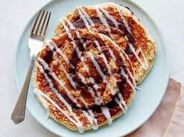 cinnamon bun pancakes recipe food