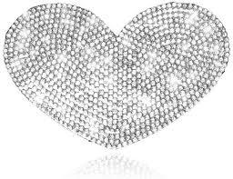 Amazon Com Car Sticker Crystal Rhinestone Truck Suv Home Office Window Decal Sticker Decoration Silver M Heart
