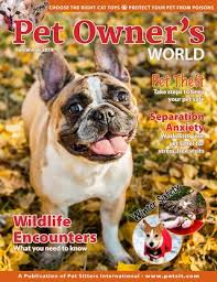 Pet Owner S World Fall Winter 2019 By Pet Sitters International Issuu