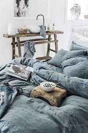 grey blue linen duvet cover magiclinen